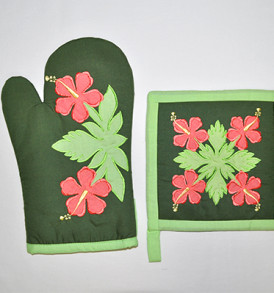 Quilted Potholder Set – Flowers Forest
