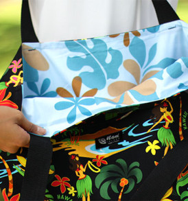 Tote Bags (Reversible) – XLarge – Hula Black