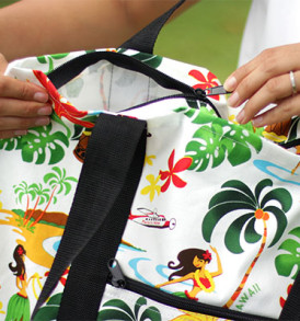 Beach Tote Bag – Medium – Hawaiian Hula Cream