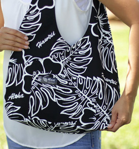Boho Sling Bags – Monstera Black