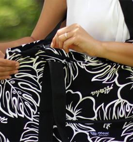 Beach Tote Bag – Large – Monstera Black