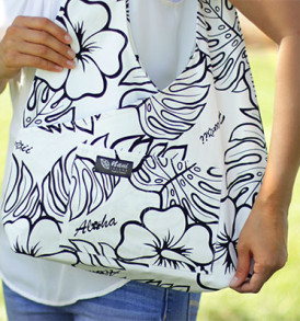 Boho Sling Bags – Monstera Cream