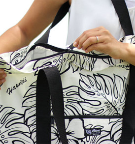Beach Tote Bag – Large – Monstera Lover Cream