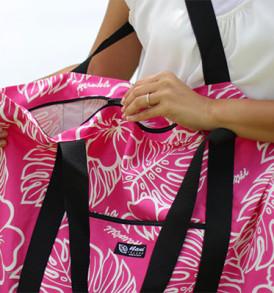 Beach Tote Bag – Large – Monstera Pink