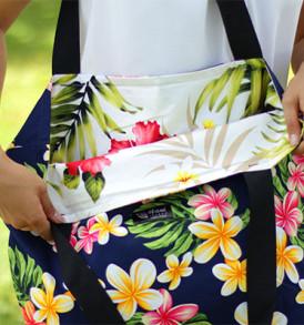 Tote Bags (Reversible) – XLarge – Plumeria Navy