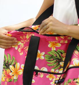Beach Tote Bag – Large – Plumeria Pink