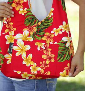 Boho Sling Bags – Plumeria Red