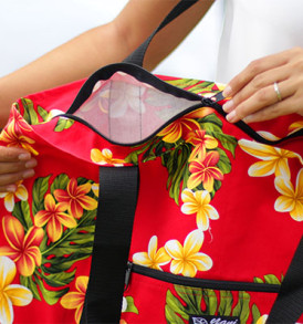 Beach Tote Bag – Large – Plumeria Red