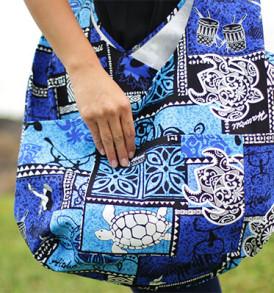 Boho Sling Crossbody – Tapa Hula Blue