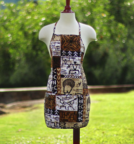 Adult Aprons – Tapa Brown
