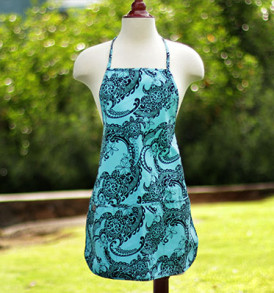 Adult Aprons – Tribal Aqua