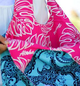 Reversible Hobo Bag Tribal-Aqua