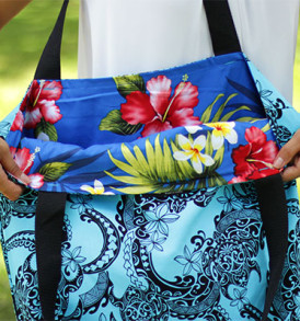 Tote Bags (Reversible) – XLarge – Tribal Aqua