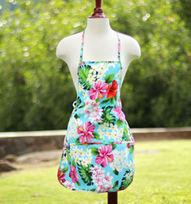 Adult Aprons – Tropical Aqua