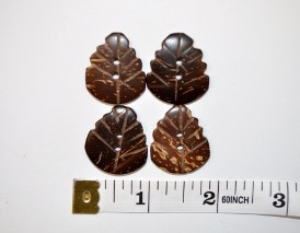 3/4″ Leaf Buttons 4 pcs