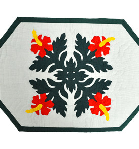 Hawaiian Quilt Placemat-Octagon – Hibiscus Quilt