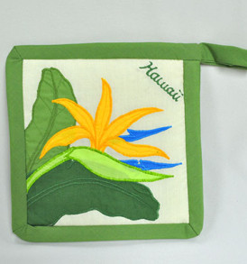 Quilted Potholders Single – Bird of Paradise