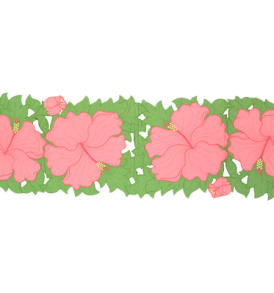 Quilted Table-Runner – Hibiscus-Pink