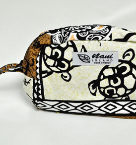 Canvas Wristlet Pouch Tapa-Cream