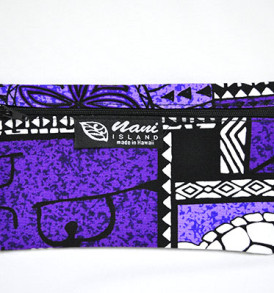 Canvas Zipper Pouch Tapa-Purple