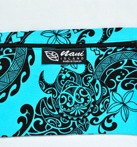 Canvas Coin Purse – Large Tribal-Aqua