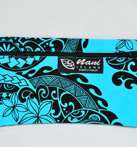 Canvas Zipper Pouch Tribal-Aqua