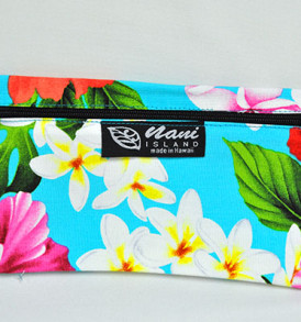 Canvas Zipper Pouch Tropical-Aqua
