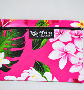 Canvas Coin Purse – Large Tropical-Pink