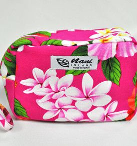 Canvas Wristlet Pouch Tropical-Pink