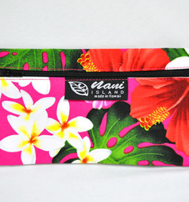 Canvas Zipper Pouch Tropical-Pink