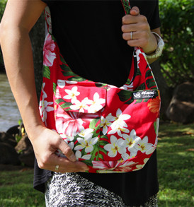 Purse – Large – Hibiscus Red