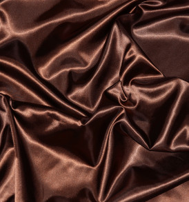 Stretch Charmeuse Satin Brown
