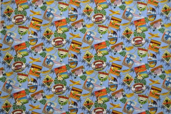 Hawaii Fabric Mart 187 Cac0374 Blue