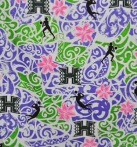 UH Tribal Volleyball White Purple