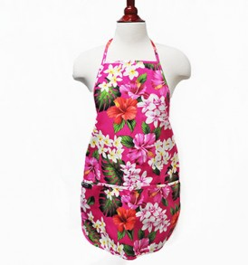 Adult Aprons – Luxury Hibiscus Pink