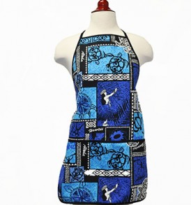 Adult Aprons – Honu Box Blue