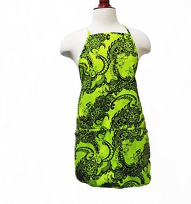 Adult Aprons – Tribal Tattoo Lime