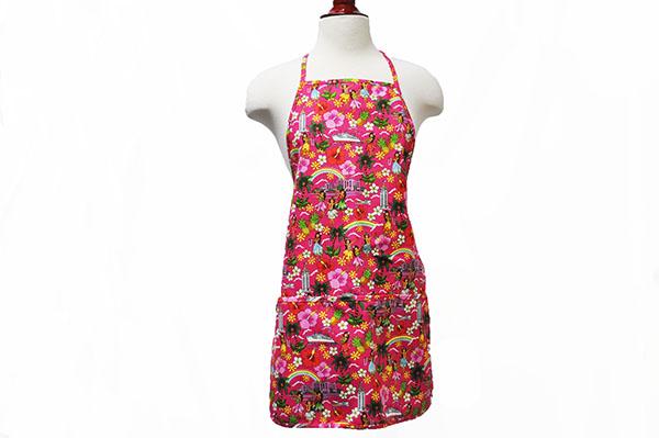Adult Aprons Hawaiian Hula Girl Pink Hawaii Fabric Mart