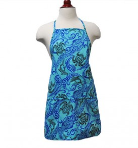 Adult Aprons – Tapa Shark Honu Blue