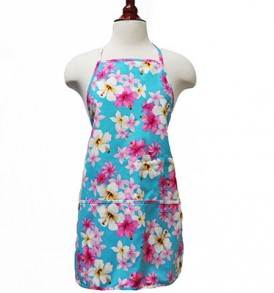 Adult Aprons – Hibiscus Tiare Blue