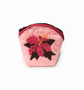 Quilted Coin Purse Middle – Hibiscus Pink