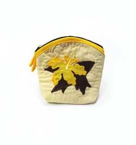 Quilted Coin Purse Middle – Hibiscus Yellow