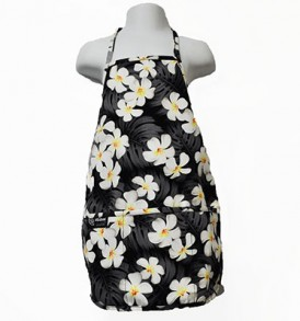 Kids Aprons – Plumeria Monstera Black