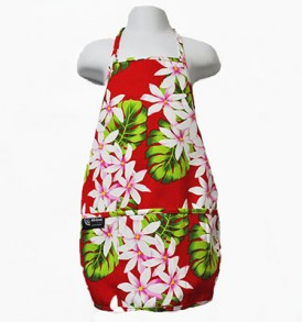 Kids Aprons – Tiare Lei Red