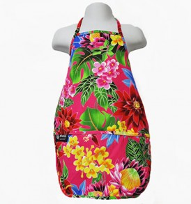Kids Aprons – Hawaiian Garden Red