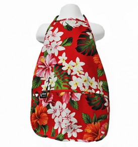 Kids Aprons – Luxury Hibiscus Red