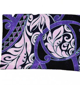 Canvas Coin Purse – Large Honua Purple