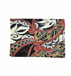 Canvas Coin Purse – Large Honua Red