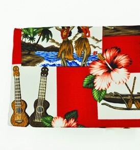 Canvas Coin Purse – Large Hawaiian Dance Red