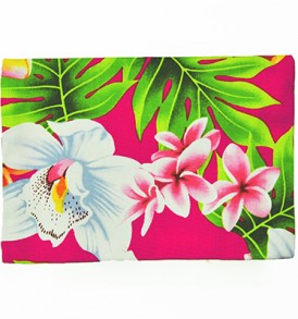 Canvas Coin Purse – Large Plumeria Orchid pink